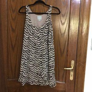 Maeve Animal Print Layered Chiffon Swing Dress